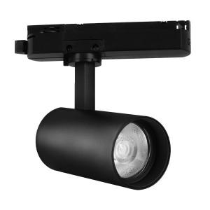 Spot LED pe sina, 15W, lumina calda(3000 K), 1180 lm, negru, Braytron Plus