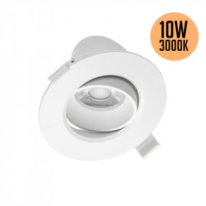 Spot led rotund incastrat orientabil, 10W, lumina calda 3000K, 800lm, GTV