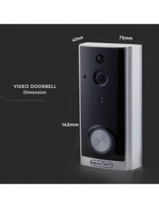 Videointerfon smart Wifi, HD, compatibil iOS si Android, V-TAC