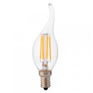 Bec LED Vintage 6w(48W), transparent, forma flacara 700Lm, lumina neutra(4200k), Horoz Electric