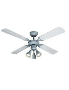 Candelabru cu ventilator Globo 03357, 3 becuri, dulie GU10, gri
