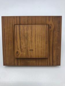 Intrerupator cruce, 10A, IP20, Ovivo Grano, lemn masiv
