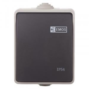 Intrerupator simplu, 10A, montaj aplicat, protectie IP44, pentru exterior, Emos
