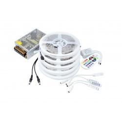 Kit Banda LED 5050 IP20 RGB 60 leduri/metru 25 metri+ alimentare + controller