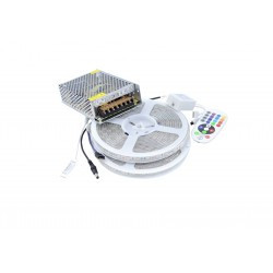 Kit Banda LED 5050 IP65 RGB 60 leduri/metru 10 metri+ alimentare + controller