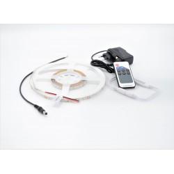 Kit Banda LED IP20 3528 60 leduri/metru 5 metri lumina rece + alimentare + controller