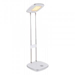 Lampa de birou LED 3.6W, lumina calda, plastic si metal, argintiu, 58131S Globo