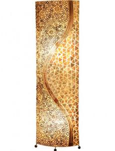 Lampadar din coaja de scoici, 2 becuri, dulie E27, Globo 25824