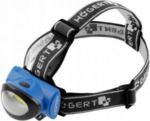 Lanterna frontala LED 3W, 160 lm, lumina rece(6400 K), alimentare cu 3 baterii(neincluse), Hogert Techik
