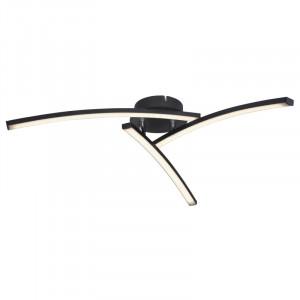Plafoniera LED 18W Tansy,lumina ajustabila, flux luminos 1500 lm, neagra, 67129-15 Globo