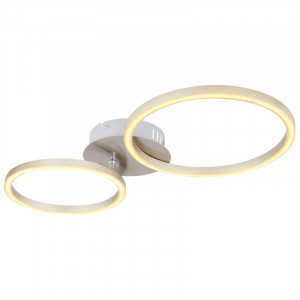 Plafoniera LED 24W Kendy,lumina calda, flux luminos 1300 lm, alba, 67233-24N Globo