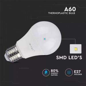 Set 3 becuri led E27, 11W(75W), 1055 lm, A+, lumina rece(6400 K), V-TAC