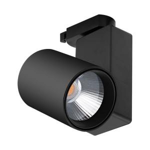 Spot LED pe sina, 30W, lumina calda(3000 K), 2600 lm, negru, Braytron Plus