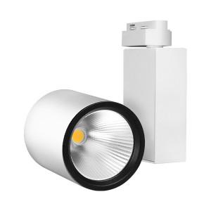 Spot LED pe sina, 30W, lumina calda(3000 K), 2660 lm, alb, Braytron Plus
