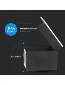 Spot mobil negru, pentru exterior, negru, IP44, V-TAC