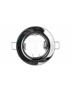 Spot rotund crom negru, incastrat, diametru 80mm, fix, GTV