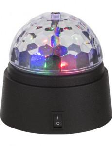 Veioza disco din plastic negru, Globo 28014