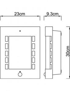 Aplica de exterior opala, 1 bec, dulie E27, Globo 3156S