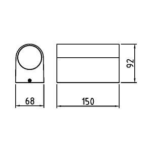 Corp de perete pentru exterior, alb, 2 becuri, dulie GU10, protectie IP44, Braytron
