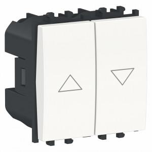 Intrerupator jaluzele 2 module alb, Schneider Easy Styl