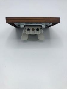 Intrerupator simplu, 10A, IP20, Ovivo Grano, lemn masiv