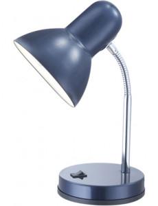 Lampa de birou crom albastru, 1 bec, dulie E27, Globo 2486