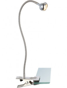 Lampa de birou cu clema nichel satinat, 1 bec, Globo 24109K