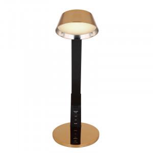 Lampa de birou LED 8W, conexiune USB, dimabila, temperatura de culoare ajustabila, negru-auriu, 58423 Globo