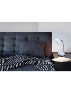 Lampa de birou plastic alb, 1 bec, dulie E27, Globo 2485