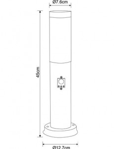 Lampa de exterior otel inoxidabil opal, 1 bec, dulie E27, Globo 3158S