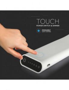Lampa LED de birou neagra, control touch LED 6.5W flexibila, alba, 3 in 1, dimabila, V-TAC
