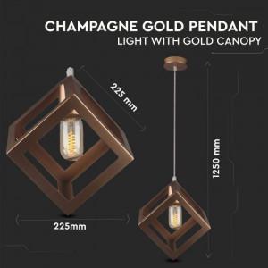 Pendul Geometric, culoarea șampaniei, pătrat, V-TAC