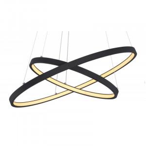 Pendul LED 42W, dimabil, lumina calda, metal, culoare negru, 67192-42B Globo
