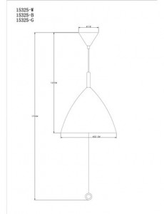 Pendul negru, 3 becuri, dulie E27, Globo 15325B