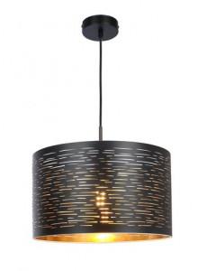 Pendul negru auriu, 1 bec, dulie E27, Globo 15342
