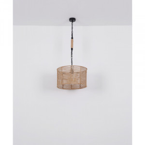 Pendul negru mat, franghie de canepa, dulie E27, 15672H1 Globo