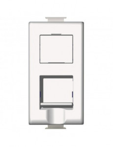 Priza internet RJ45 cat 5E, 1 modul, alb, Bticino Matix