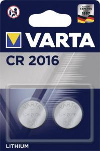 Set 2 baterii CR2016, Varta