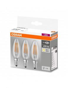 Set 3 becuri led Vintage, E14, 4W(40W), 470 lm, A++, Osram