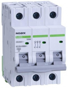 Siguranta automata 3P, 10A, curba de declansare C, capacitate de rupere 4,5kA, Noark