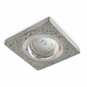 Spot mobil incastrat, fabricat din beton si aluminiu, patrat, inel aluminiu, Kobi