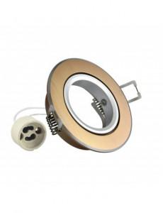 Spot rotund auriu, interior aluminiu, diametru 85 mm, Polux
