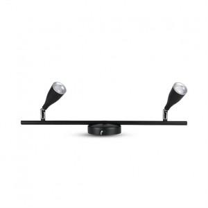 Aplica LED 4.5W x 2, design modern, negru, 360lm(4000K), V-TAC
