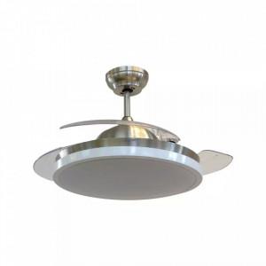 Candelabru cu ventilator 35W, led 30W, telecomanda pentru temperatura de culoare a luminii, crom, V-TAC
