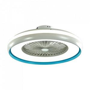 Candelabru cu ventilator 45W, led 35W, telecomanda pentru temperatura a culoare a luminii, albastru, V-TAC