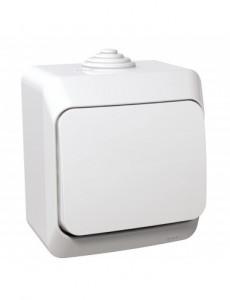 Intrerupator simplu, IP44, alb, Schneider Cedar