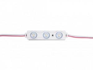 Modul 3 leduri 0.72W, 12 V, IP65, lumina rece 6500K, 58x12mm, Optonica