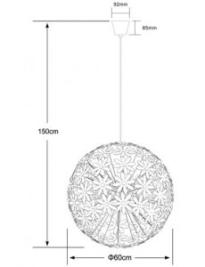 Pendul alb, dulie E27, Globo 15024