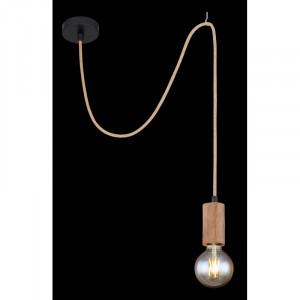 Pendul Frida, lemn si metal, 1 bec, dulie E27, 69069-1H Globo