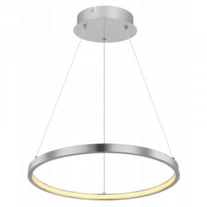 Pendul LED 19W, dimabil, lumina calda, metal, culoare nichel, 67192-19 Globo
